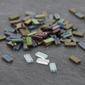 Rectangle Beads Miyuki 4x9 mm RECT-2006 - Metallic Dark Bronze Mat x8g