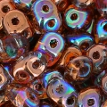 SuperDuo mm. 2.5x5 Crystal Copper Rainbow x10g