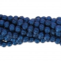 Perline in vetro Melon Bead 3mm Blue Metallic Mat x20