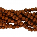 Perline in vetro Melon Bead 3mm Dark Red Copper Mat x20