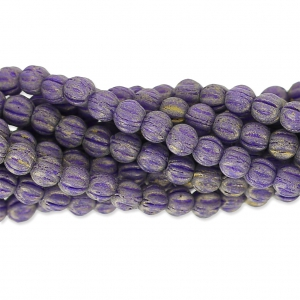 Perline in vetro Melon Bead 3mm Elderberry Pacifica x20