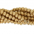 Perline in vetro Melon Bead 3mm Gold Mat x20