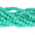 Perline in vetro Melon Bead 3mm Green Turquoise Mat x20