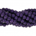Perline in vetro Melon Bead 3mm Purple Metallic Mat x20