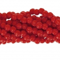 Perline in vetro Melon Bead 3mm Red Corail x20