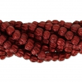Perline in vetro Melon Bead 3mm Red Metallic Mat x20