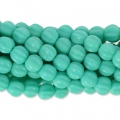 Perline in vetro Melon Bead 5mm Green Turquoise x15