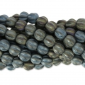 Perline in vetro Melon Bead 6mm Brown Iris Mat x15