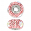 BeCharmed Pavé Swarovski 84372 mm. 15 Crystal AB/Light Rose x1