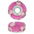 BeCharmed Pavé Swarovski 81722 mm. 15 Crystal Antique Pink/Fuchsia x1