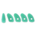 Perline in vetro Prong Beads 1 trou 3x6 mm Green Turquoise x5g