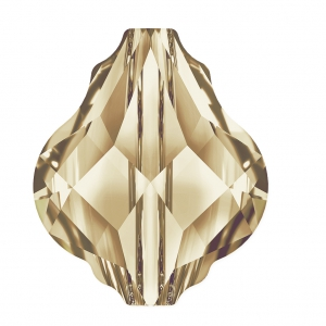 Baroque bead Swarovski 5058 10 mm Crystal Golden Shadow x1