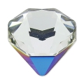 Cabochon Swarovski 4928 Tilted Chaton 12 mm Crystal Bermuda Metal. Blue