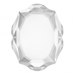 Cabochon Swarovski 4142 Baroque Mirror 14x11 mm Crystal