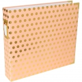 Album Project Life de Becky Higgins 30.5x30.5 cm Pois dorati fondo Blush Rose