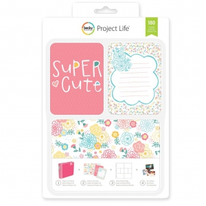 Set di 180 cartoline 15x10 et 7.5x10cm per l' Album Project Life Super mignon