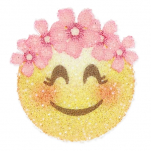 Crystal Fabric Swarovski 611580 termoadesivo 40 mm Smiley Corona