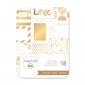 Set di 18 cartoline 7.5x10cm Dorato Love per l'Album Project Life DIY