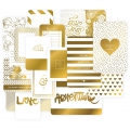 Set di 40 cartoline15x10-7.5x10cm per l'Album Project Life DIY Dorato Love