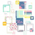 Set di 100 cartoline 5x5-10x10 cm per l'Album Project Life Rosa