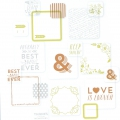 Set di 90 cartoline 5x5-10x10 cm per l'Album Project Life Matrimonio