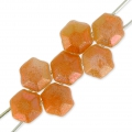 Perle in vetro Rep. Ceca Honeycomb Jewel 6 mm Opaque White Apricot x20