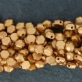 Perle in vetro Rep. Ceca Honeycomb Jewel 6 mm Gold Mat x20