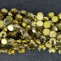 Perle in vetro Rep. Ceca Honeycomb Jewel 6 mm Crystal Full Dorado x20