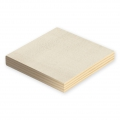 Set di 2 supporti quadrati in legno da decorare 12.5x12.5 cm Naturel