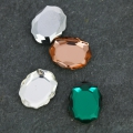 Cabochon Swarovski 4142 Baroque Mirror 14x11 mm Crystal Rose Gold
