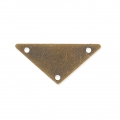 Smooth metal spacer triangle 3 holes 20 mm bronzo x5