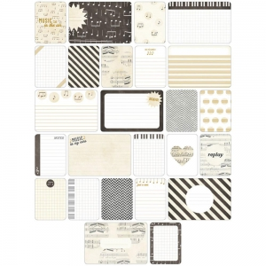 Set di 40 cartoline15x10-7.5x10cm per l'Album Project Life DIY Musique