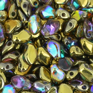 Perle in vetro Rep. Ceca Gekko® 3x5 mm Crystal Golden Rainbow  x5g