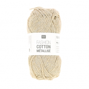 Laine Fashion Cotton Metallizzato Rico Design Platino 001 x 50g