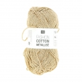 Lana Fashion Cotton Metallizzata Rico Design Oro Bianco 002 x 50g