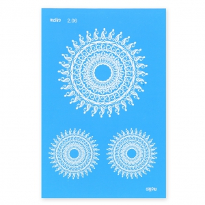 Silk Screen Moiko 74x105 mm - Mandalas 2.06