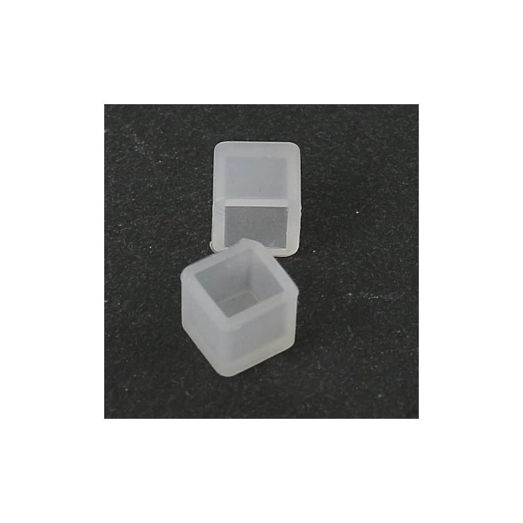 Stampo silicone per realizzare 2 cabochons quadrati a for 2 piedi quadrati per garage