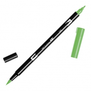 Pennarello Tombow Dual Brush - Pennarello pennello doppia punta Light Green ABT-195