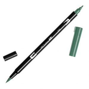 Pennarello Tombow Dual Brush - Pennarello pennello doppia punta Hunter Green ABT-249
