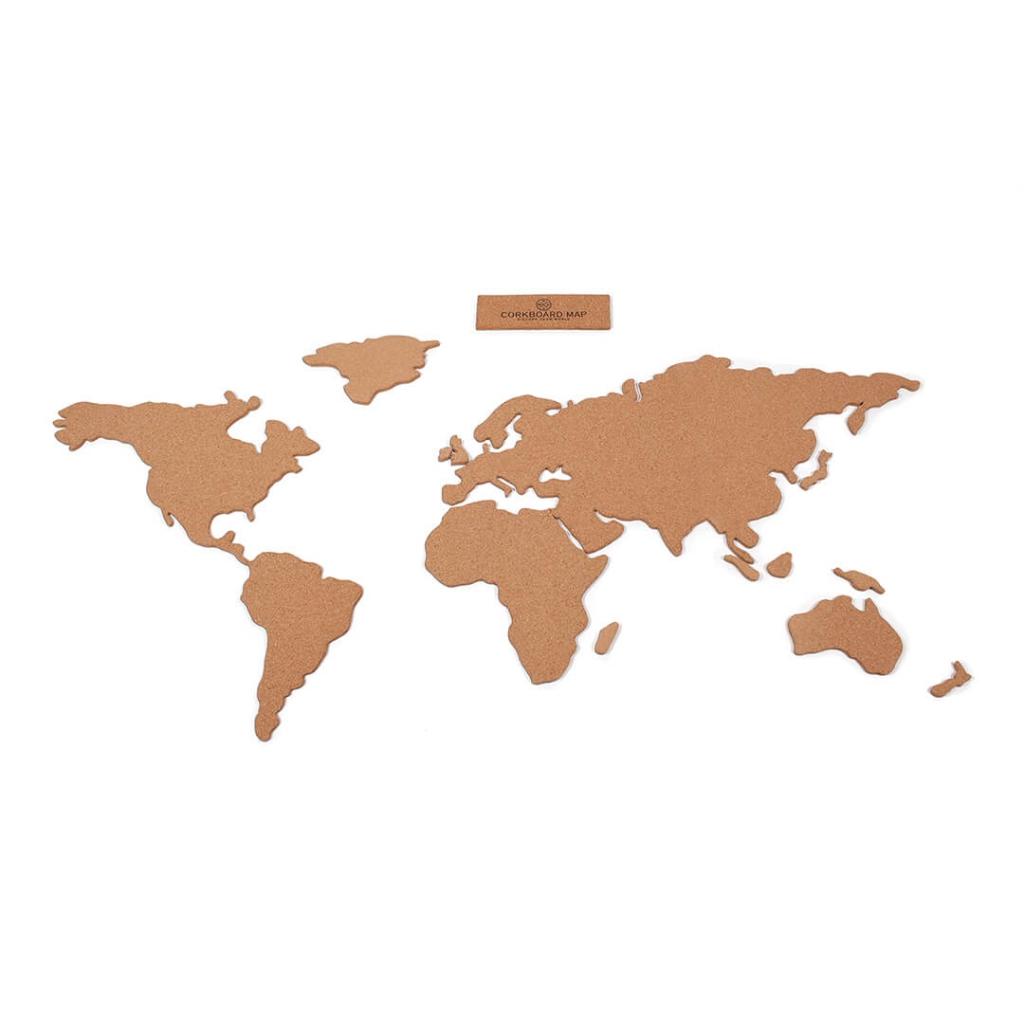 Cartina Mondo In Sughero.Cartina Del Mondo In Sughero Adesiva Luckies London 100x46 Cm The Corkboardmap Perles Co