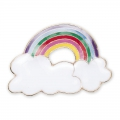 Pin's in metallo e resina epossidica Magical Summer 21mm Nuage Arc-en-ciel