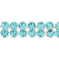Swarovski Crystal Mesh 40001 2 fili mm.5.3 Light Turquoise x5cm