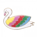 Pin's in metallo e resina epossidica Magical Summer 21mm Cygne Multicolore
