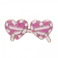 Pin's in metallo e resina epossidica Magical Summer 21mm Lunette Coeur
