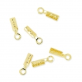 Mini pince lacet 0.6 mm dorato x10