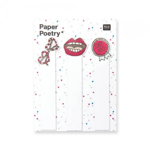 90 Sticky notes Paper Poetry - Magical Summer Cool Girl x1