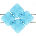 Silky Bead Star 6x6 mm Turquoise x50