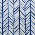 Tessuto doppia garza di cotone - Embrace collection - Herringbone Royal x10