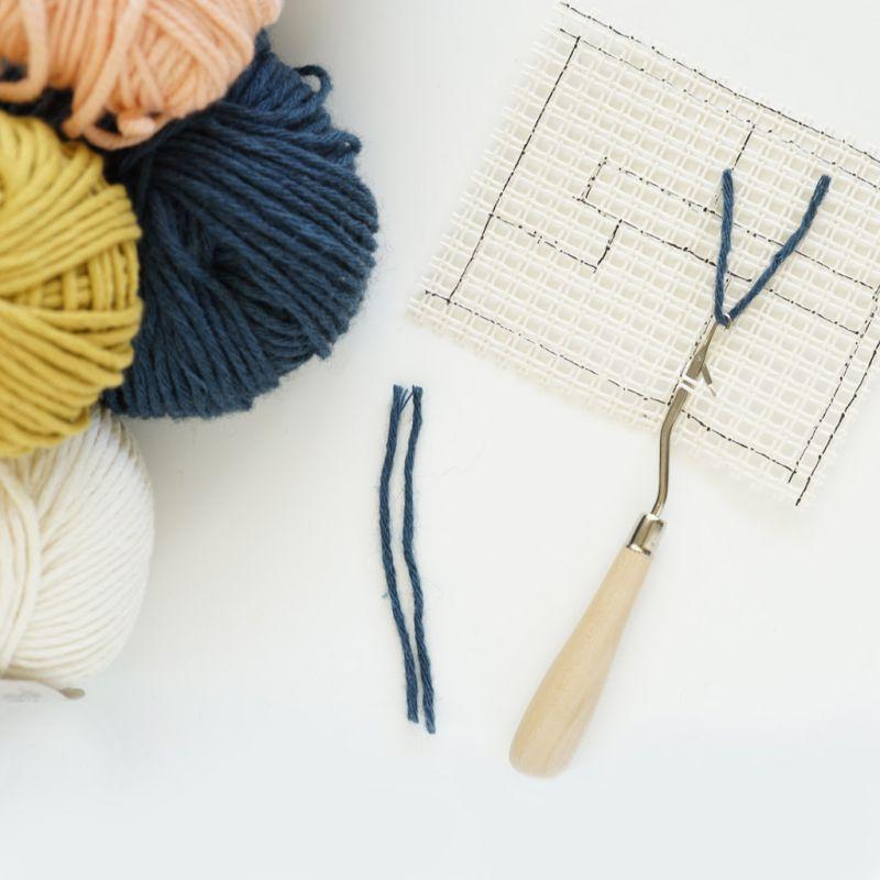 Uncinetto smyrne per lana e tappeti