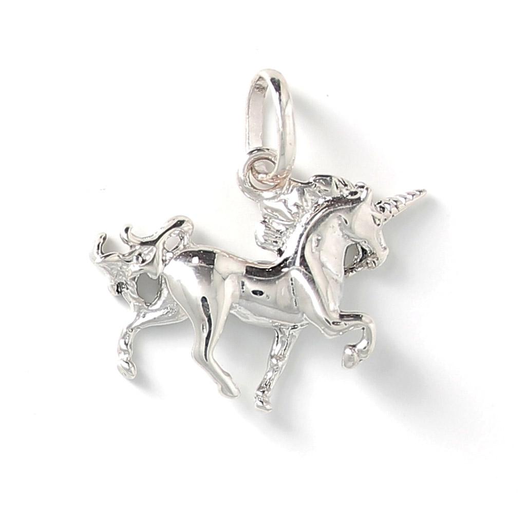 aspetto dettagliato 26503 ffa5b Ciondolo Unicorno 20 mm Argento 925 x1